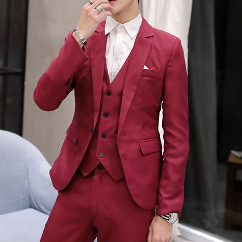 2019 Business Men Blazers Casual One Button Mens Suit Jacket Spring Autumn Formal Slim Fit Suit Coats For Wedding Party Jacket