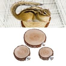 ПЭТ попугай птица клетка окунь платформа круглый деревянный стенд доска для шиншиллы белки птицы N1HA