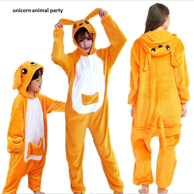 Kigurumi Onesies Cosplay Adult Kangaroo Onesie Sleepsuit sleepwear - Disfraces