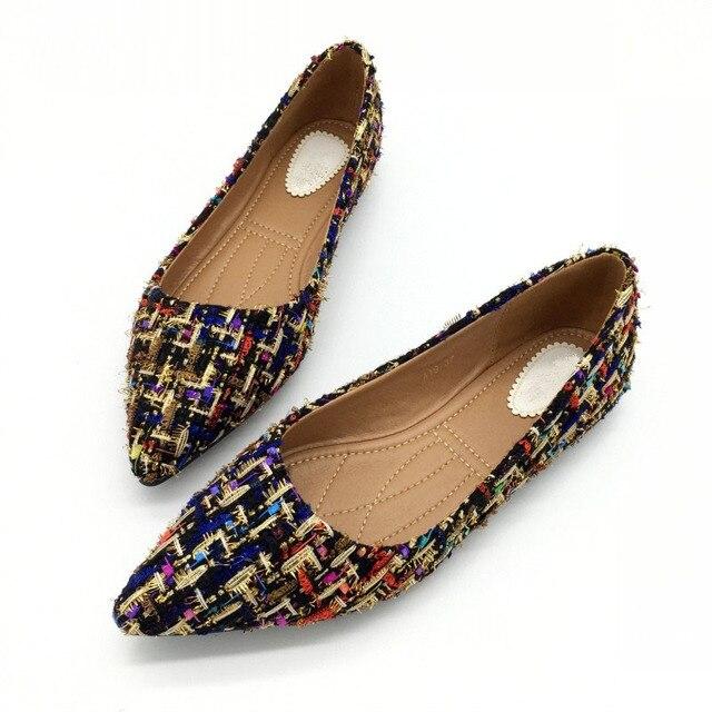 Lente Herfst Vrouwen Ballet Flats Schoenen Voor Vrouw Casual Loafers Enkele Schoenen Dame Zachte Werk Draving Schoeisel Zapatos Mujer