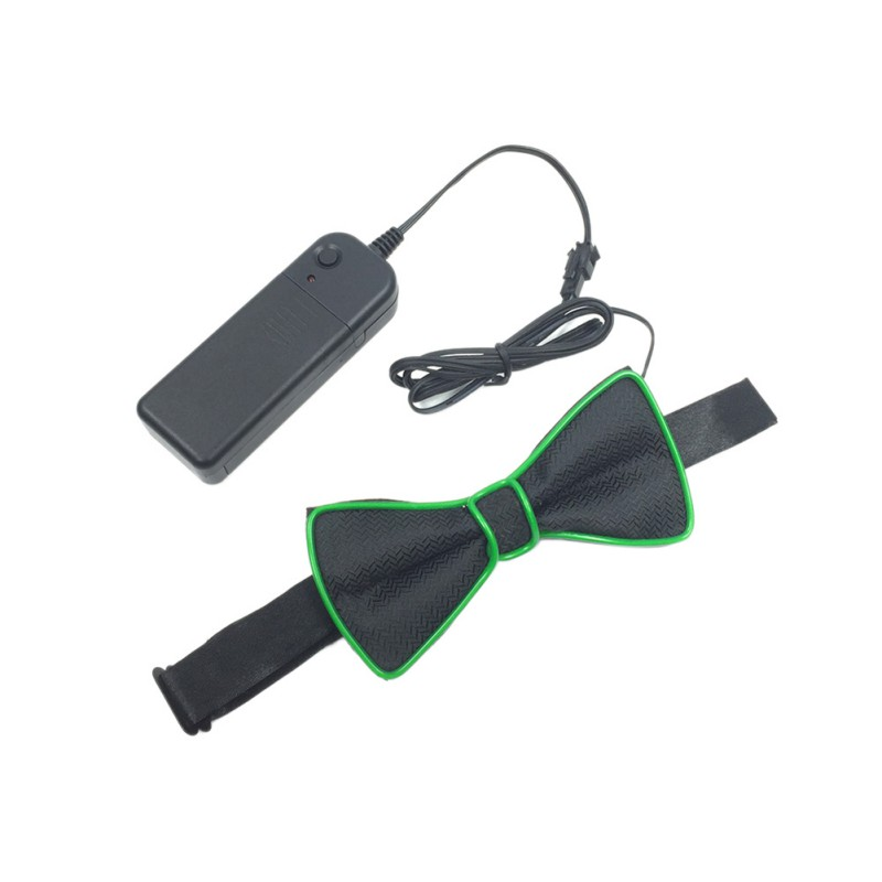 Women EL Boneless Prom Wedding Party Festival Flash Bow Tie Unisex Led Luminous Bow Tie
