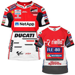 2020 New Arrival 3D Ducati MOTO-GP Sports Motorcycle T-shirt Cool Printed Men's Racing Team Tee Tops