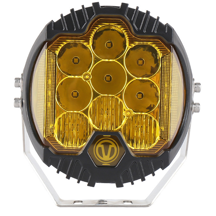 Selling New 7 Inch Jin-guang Huang LED Work Light And Light Maintenance Light Focusing On Three Sides By Modified Light