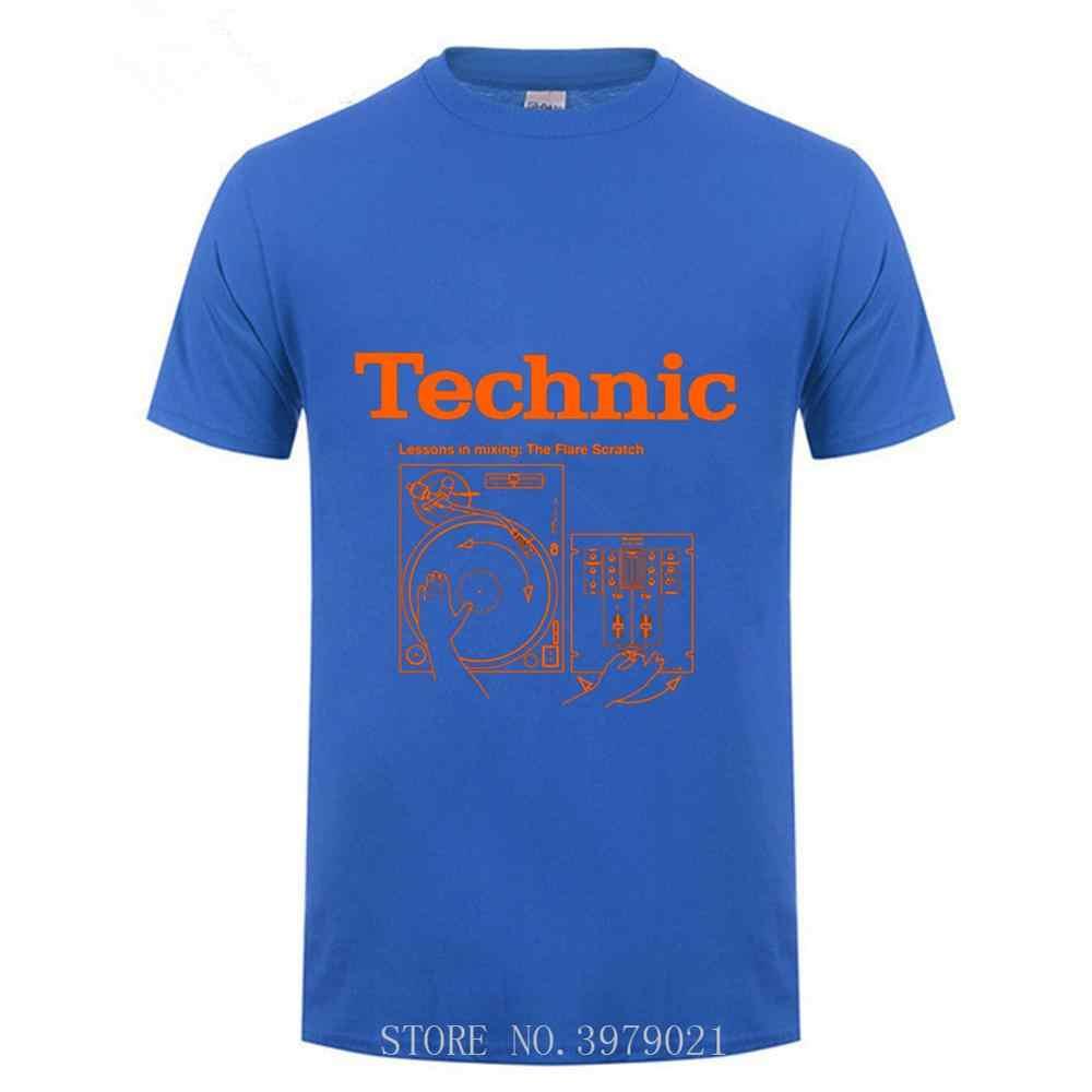 ออนไลน์เสื้อสั่งซื้อ Technics shirt 2019 แขนสั้น O-คอฝ้าย T เสื้อสำหรับชาย