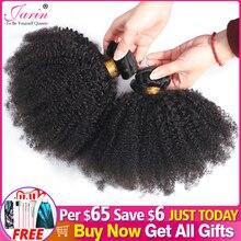 Afro kinky cabelo encaracolado tecer 1 2 3 6 9 pacotes negócio remy cabelo 100% extensão do cabelo humano 8 20 Polegada cor natural jarin cabelo a granel