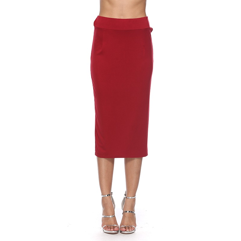 2020 New Sexy Pencil Bodycon Skirt Striped Mid-Calf Bandage Skirts Wear To Work Summer Autumn All-match Women Skirt