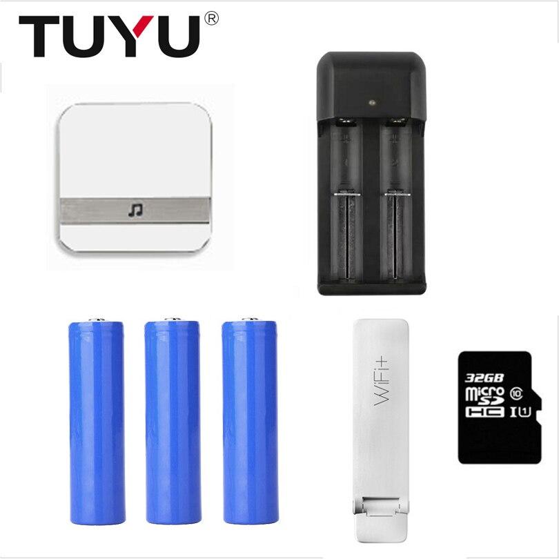 Дверной звонок, камера, аксессуары для eken V5 V6 V7 Anytek B30 B50 B60 B70, дверной звонок с колокольчиком, батарея 18650, sd-карта и wifi удлинитель