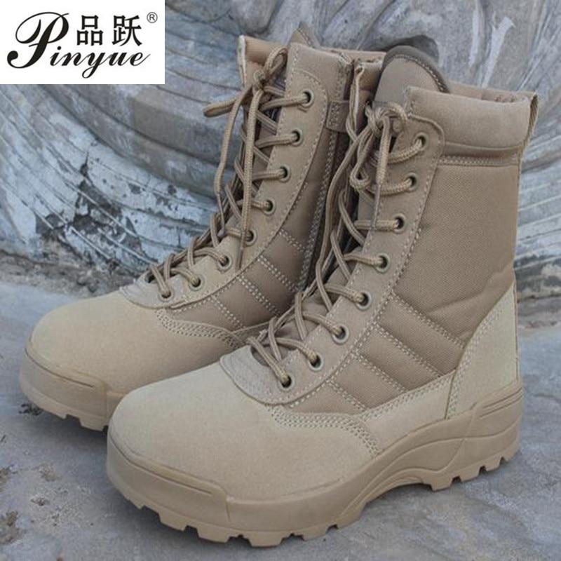 Men desert military tactical boots male