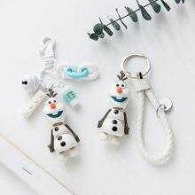 Милый брелок для ключей с изображением аниме снеговика дневного