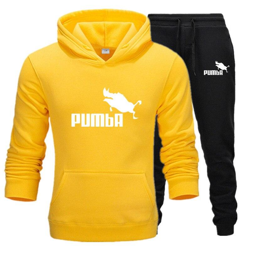 2019 Hot Brand Men Sweatshirt Tracksuit Prints Thermal Underwear Men Sportswear Sets Fleece Thick Hoodie+Pants Sporting Men Set
