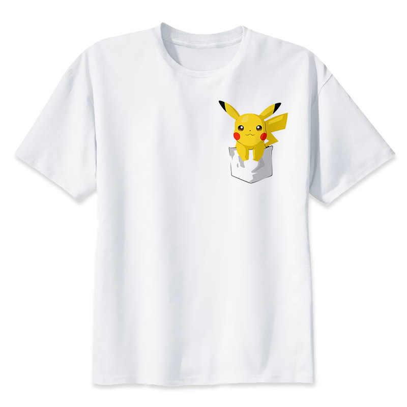Pokemon GO camisetas hombre manga corta Pikachu Anime ropa Casual superior camisetas camiseta bonita Homme camiseta de Harajuku de Pokemon