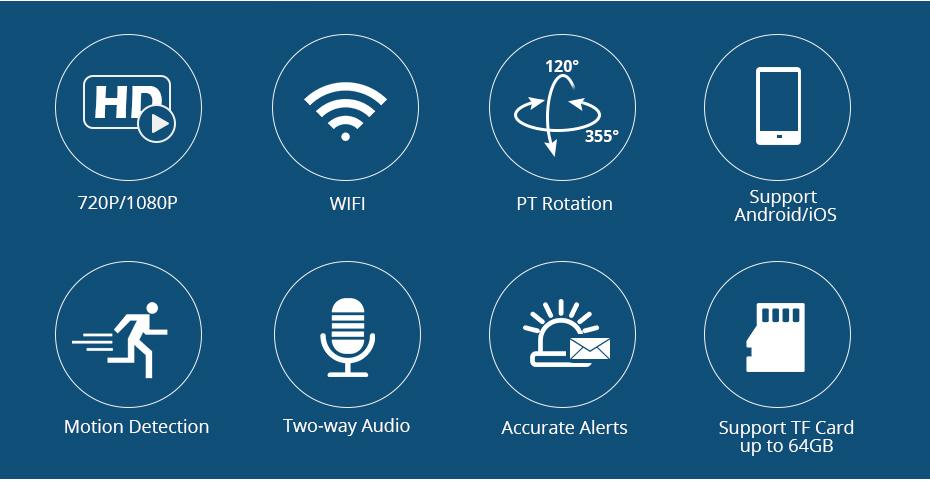 H175db652bd8844129a4f9fbc0d5d9860p KERUI 720P 1080P HD Wifi Wireless Home Security IP Camera Security Network CCTV Surveillance Camera IR Night Vision Baby Monitor