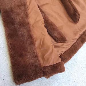 Image 5 - Femmes Trench fausse fourrure manteau peignoir ceinture femme manteaux hiver 2019 longue femmes veste