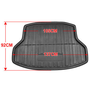 Image 2 - X Autohaux PE+EVA foam Anti dirty Black Rear Trunk Boot Liner Cargo Mat Floor Carpet Tray Cover for Honda Civic Sedan 2006 2018