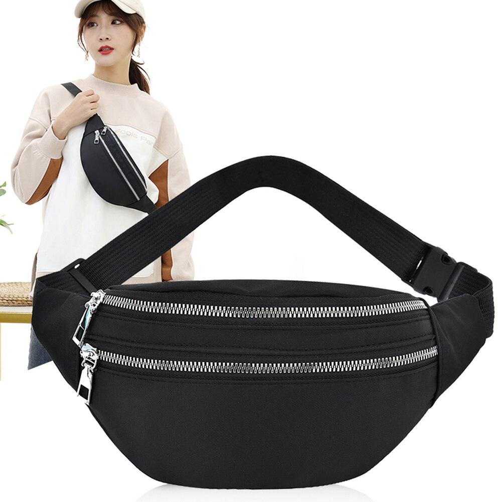 Women Ladies Female Waist Pack Zipper Adjustable Belt Solid Mini Shoulder Bag Crossbody Bag Sports Travel Cycling Casual  Bag 1