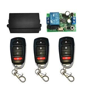 Image 4 - Interruptor inalámbrico de 433 MHz, CA de 110V, 220V, 1CH, TRANSMISOR DE RF, Control remoto, receptor de relé RF para abridor de puerta de garaje ligero