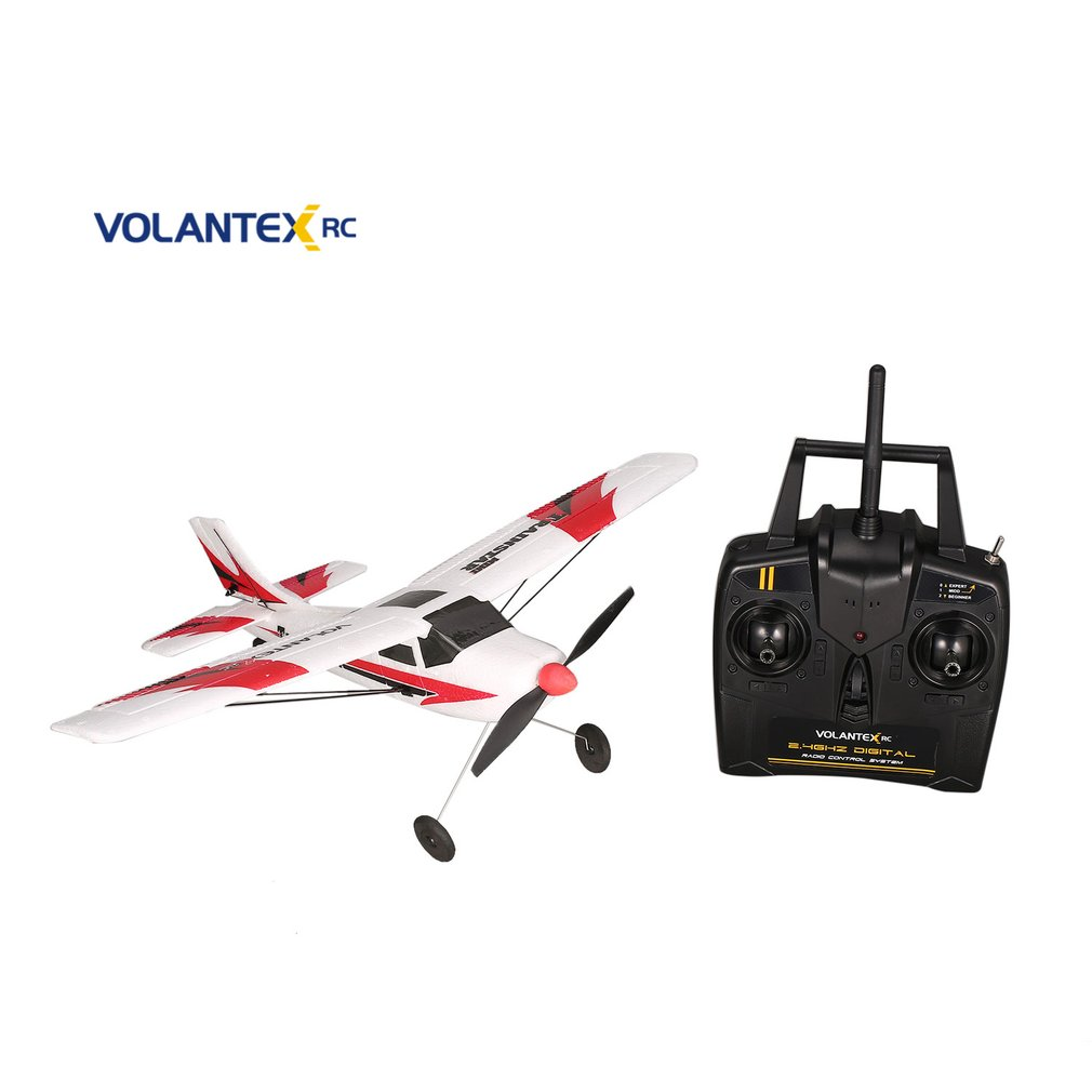 VOLANTEX V761-1 2.4Ghz 3CH Mini Trainstar 6-Axis Remote Control RC Airplane Fixed Wing Drone Plane RTF For Kids Gift Present