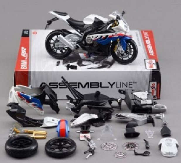Maisto 1:12 BMW S1000RR Assemble DIY Motorcycle Bike Model Toy New In Box