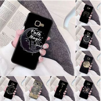 Augur Moon Tarot Divine High Quality Phone Case for Samsung a3 a5 a6 a9 a7 a8 a10 a20 a40 a70 case image