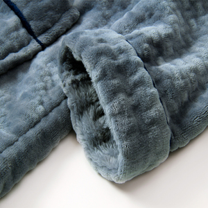 Image 5 - Chaud hommes flanelle pyjamas ensemble 2 pièces vêtements de nuit de salon pour hommes couverture chemise de nuit doux maison vêtements ensemble hiver épais corail polaire