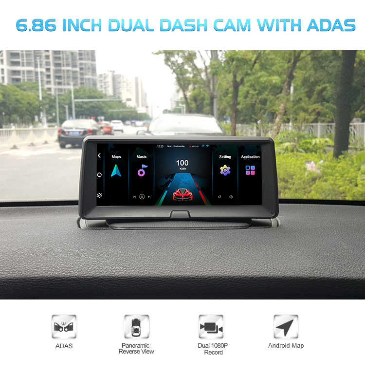Best 7 Inch Ips Adas Andriod Car Gps Navigator Quad Core Full Hd 1080p Dual Dash Cam Dvr Video Recorder Camera With Night Vision Vehicle Gps Aliexpress