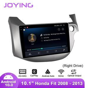 Image 3 - Joying 10.1 אינץ Android10 רכב רדיו עבור הונדה Fit/ג אז 2008 2013 ימין כונן GPS DSP SPDIF סאב carplay 5 3GWIFI Topslink DAB