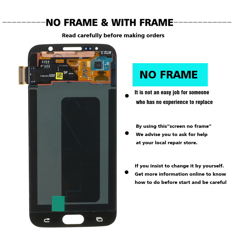 H175e70ea85b64231920915e22bd453ecL ORIGINAL 5.1'' Super AMOLED Replacement LCD S6 for SAMSUNG GALAXY S6 G920 SM-G920F G920F G920FD Touch Screen Digitizer Assembly