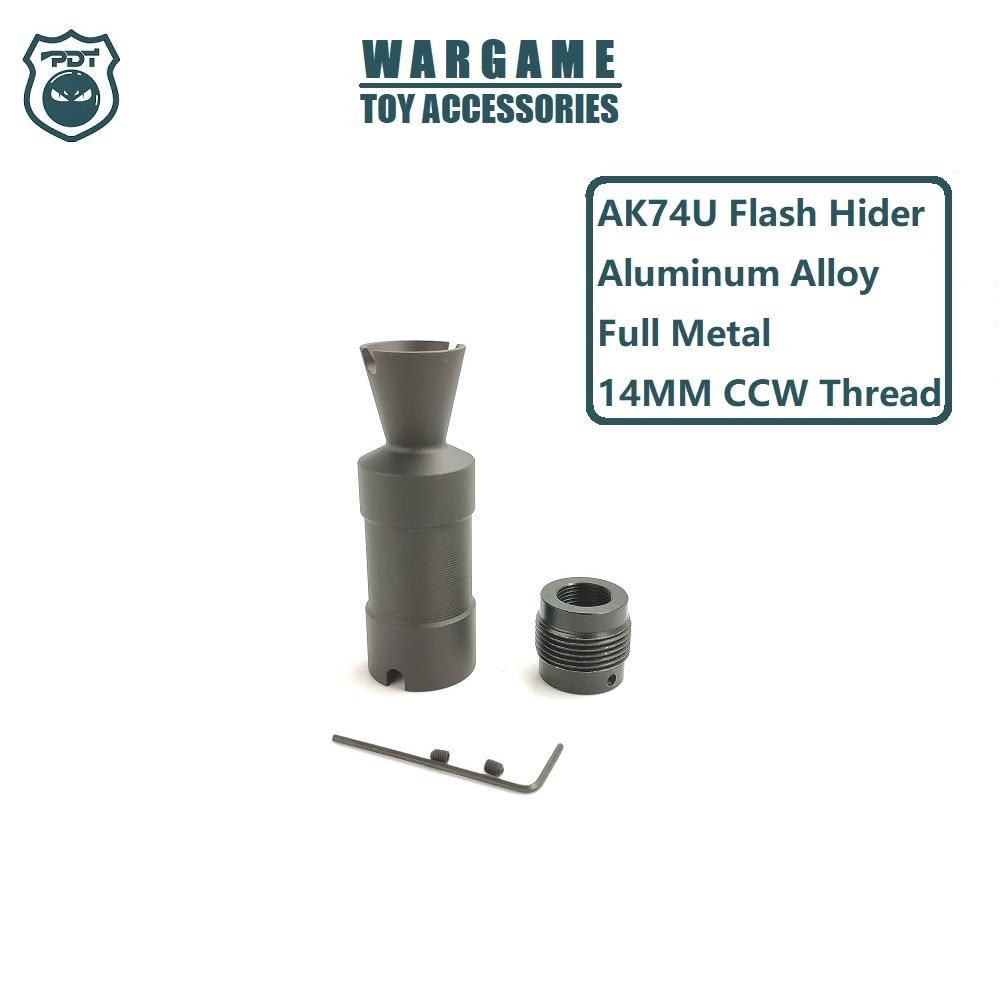 AEG Gel Blaster Toy Accessories 14MM CCW Thread Metal AK74U AKS74U AK Cone Muzzle Break Flash Hider Airsoft