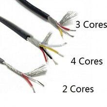 Ul2547 multi-core blindado preto/cinza pvc cabo de controle 2/3/4 núcleo de cobre puro cabo de sinal de áudio atacado 22/24/26/28awg