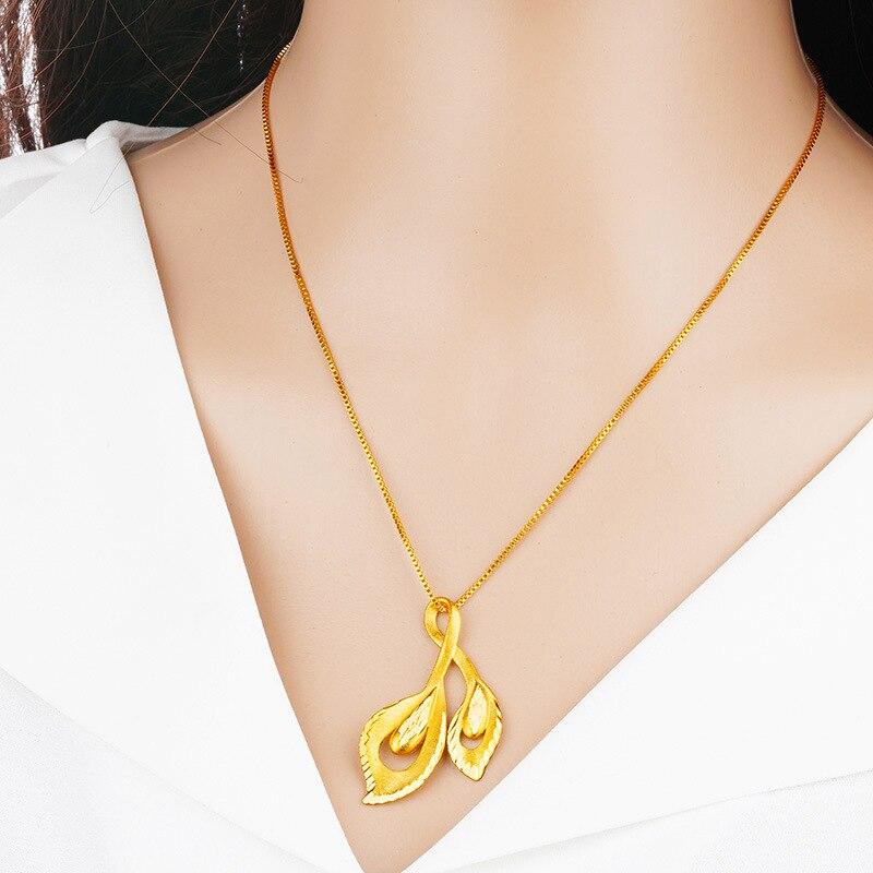 Gargantilla de oro indio de 24K para mujer, accesorios de cadenas, collar de mariposa de 30 estilos, joyería de boda, regalo de amigos