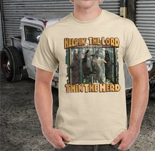Helpin The Lord Thin The Herd Wild Boar Pig T-Shirt(China)