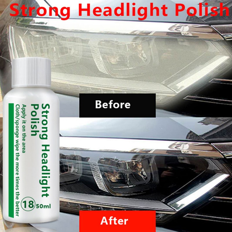 20/50ml Car Headlight Retreading Agent Lamp Scratch Oxidized Bright Plating Crystal Repair Liquid Set