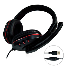 Universal USB Wired Gaming Earphone Adjustable Volume Control Headphone Stereo S