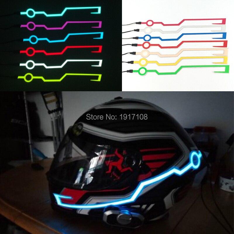 7 Colors Motorcycle Helmet LED Strip Motorcycle Helmet EL Tape Light DIY Helmet Motorbike Safety Reflective Strip