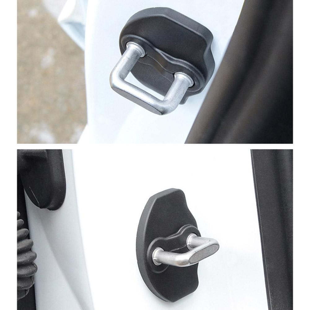 Door Lock Latches Protective Covers Door Rustproof Stopper Covers For Tesla Model 3 Door Lock Cover Stopper Protection Cover
