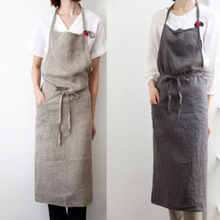Cafe Apron Linen Nordic Florist Hotel Work-Cleaning Coffee-Shop Waiter Cotton And Solid-Color