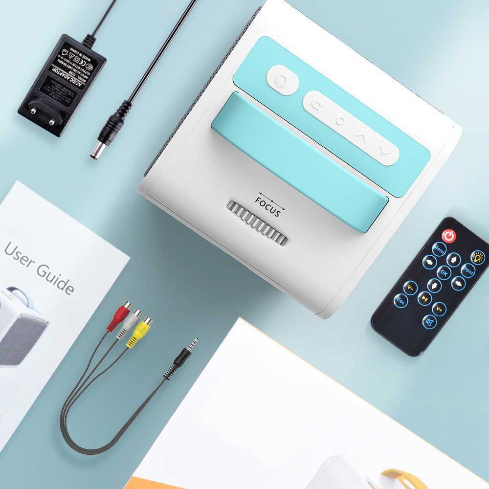 Salange Q2 Mini projektor, 700 lumenów rzutnik przenośny rzutnik HDMI USB AV Port Mini projektor LED kino domowe na prezent dla dzieci
