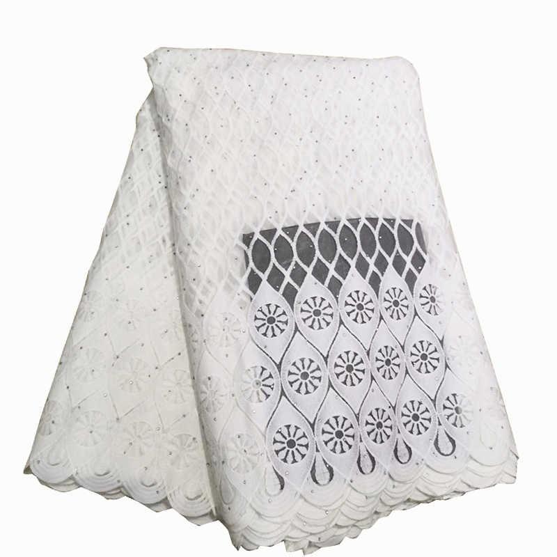 יוקרה טהור לבן שחור אפריקאי רשת תחרה בדים באיכות גבוהה ניגרי צרפתית טול תחרה עם אבנים נטו תחרה בד
