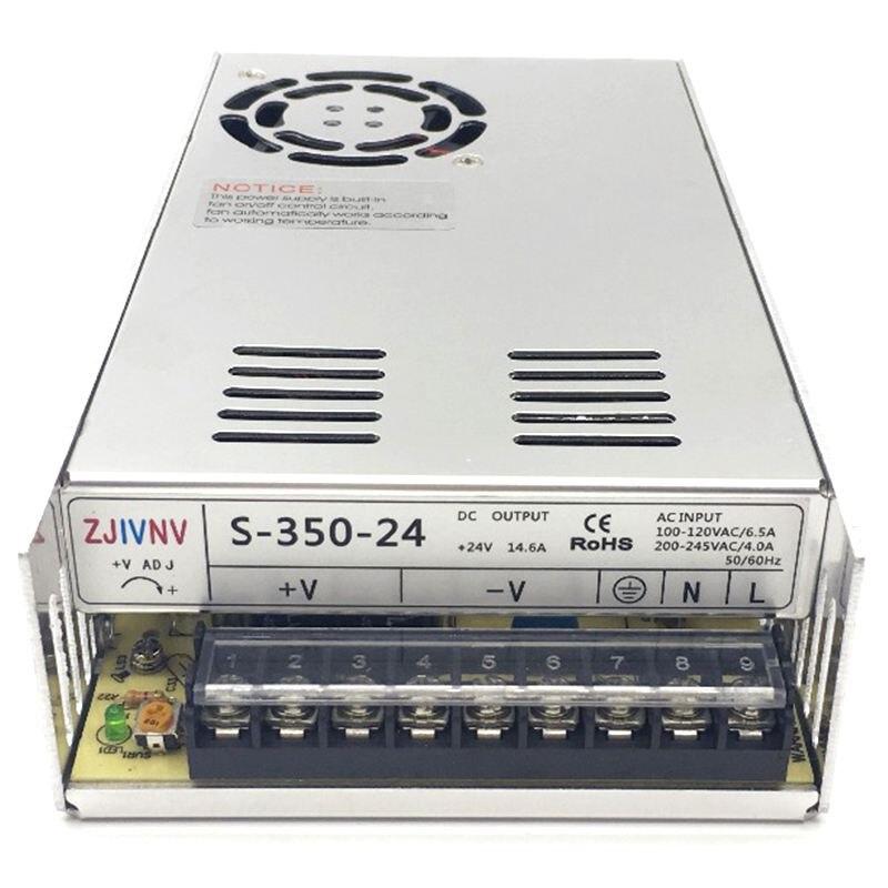 S-350-24 alimentation à découpage 350W 24V14. 6A AC/DC transformateur pilote intérieur pour CNC Machine bricolage, LED, Etc. 24 volts