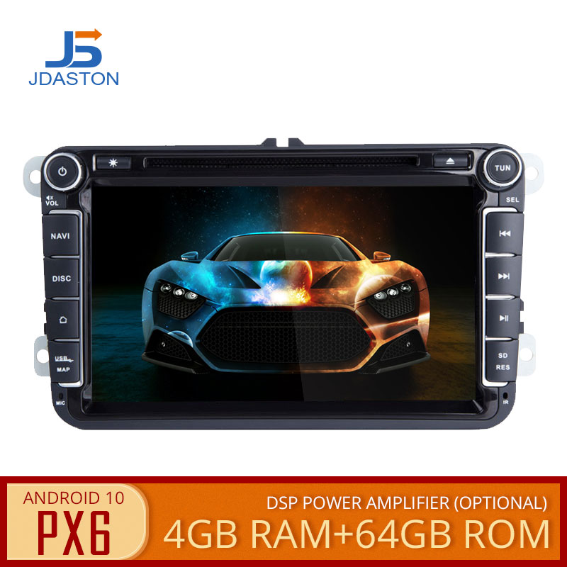 JDASTON Auto Multimedia-Player Für Volkswagen <font><b>VW</b></font> Passat B6 CC Polo Golf 4 5 Jetta Caddy <font><b>T5</b></font> Bora Skoda Sitz 2Din Radio Auto DVD GPS image