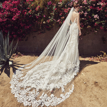 Vestido De novia blanco escotado por detrás encaje sirena, Sexy, cola De pez, novia, 2020