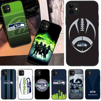 Seattle Seahawks Team Phone Case For Iphone 12 11 PRO MAX X XS XR Mini 6S 7 8 PLUS SE Cases Cover image