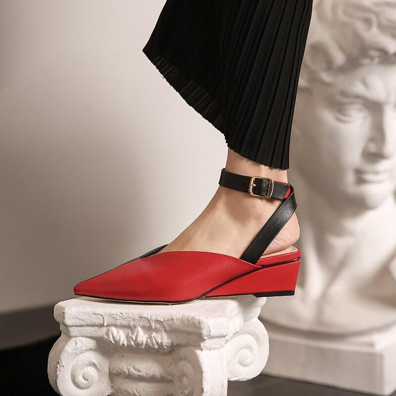Новые туфли на танкетке женские туфли лодочки из натуральной кожи весенне летние свадебные туфли женские модельные туфли