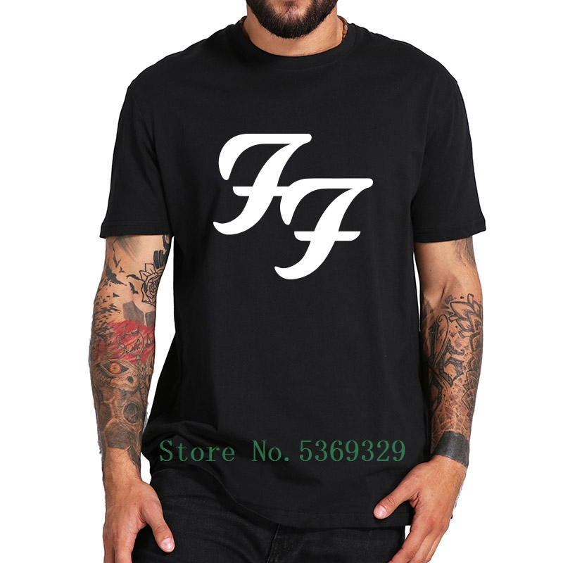 Foo Fighters Tshirt American Rock Band Logo Tee Shirt Breathable Print Cotton Eu Size Pure Tops Homme t-shirt man tshirt men 5xl image