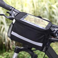 Bicycle Hiking MTB Front Frame Waterproof Riding Cycling Bike Handlebar Bag Bicycle Front Tube Pocket Pack Travel Basket Waist цена 2017