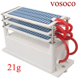 Image 4 - 21g/h  Portable Ceramic Ozone Generator Three Integrated Long Life Ceramic Plate Ozonizer Air Water Air Purifier 220V