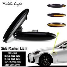 2 pcs LED Dynamic Side Marker Turn Signal Light For Lexus IS250 IS350 SC430 E350 Sequential Blinker Led Toyota Highlander Soarer