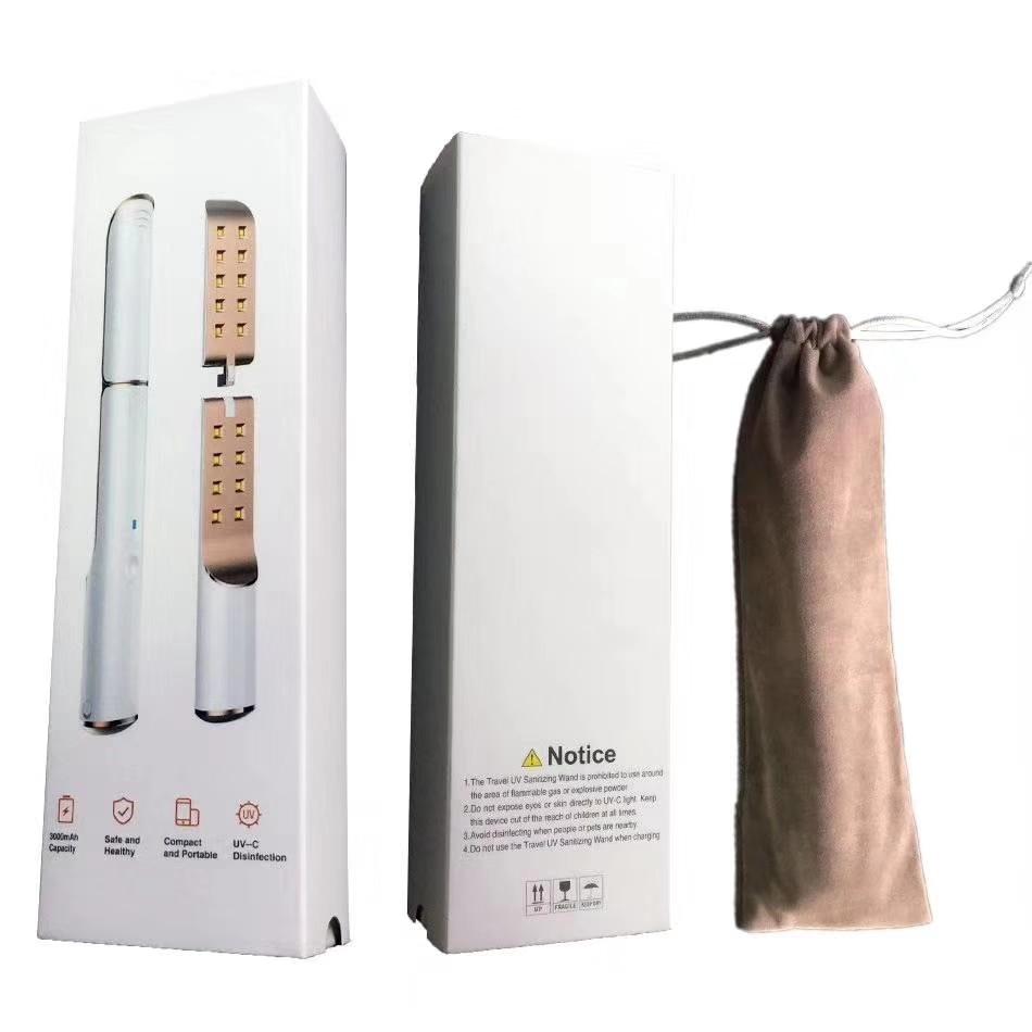 UVC Sterilizer Dust Mite Eliminator UV Lamp Sanitizer Virus Bacteria Kill Disinfection Wand For Face Mask Bedroom /Hospital