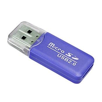 FFFAS haute qualité Mini USB 2.0 lecteur de carte pour carte Micro SD TF carte adaptateur Plug and Play coloré choisir pour tablette PC