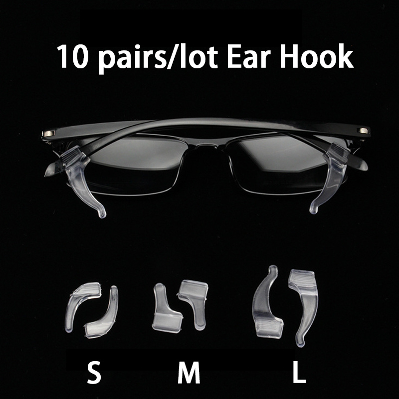 10Pairs/lot Anti Slip Silicone Glasses Ear Hooks For Kids And Adults Eyeglasses Sports Temple Tips Soft Ear Hook For Sunglass